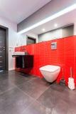 Elegant toilet in red Stock Photos