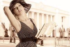 The elegant tourist Stock Photos