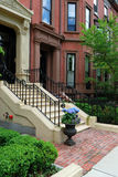 elegant townhouse för tillbaka fjärd Arkivbilder