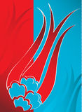Elegant traditional ottoman turkish tulip design stock illustration