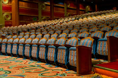 Elegant traditional theatre hall Royalty Free Stock Images
