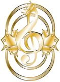 Elegant treble clef Royalty Free Stock Images