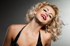 elegant trendig kvinna Royaltyfria Bilder