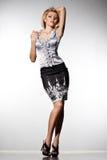 Elegant trendig kvinna Arkivfoton