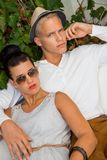 Elegant trendy young couple Royalty Free Stock Photo