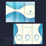 Elegant tri-fold brochure template design Stock Photography