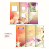 Elegant tri-fold brochure template design Royalty Free Stock Photography