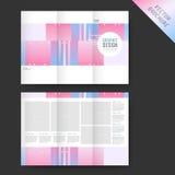 Elegant tri-fold template design Royalty Free Stock Photo