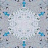 Elegant triangelblommakalejdoskop i ljusa färger Royaltyfria Bilder