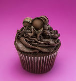 Elegant Triple Chocolate Cupcake Stock Photography