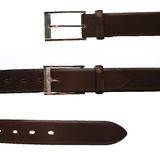 Elegant trousers belt on white background Royalty Free Stock Images