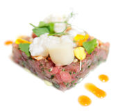 Elegant tuna tartare Royalty Free Stock Images