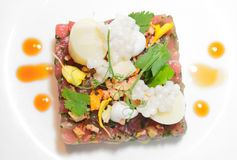 Elegant tuna tartare Stock Photo