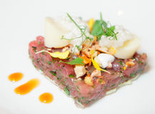 Elegant tuna tartare Stock Photography
