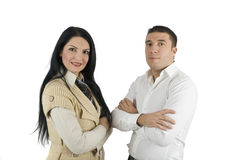 Elegant two business people Royalty Free Stock Image