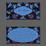 Elegant two sides of brochure. S. Nice hand-drawn illustration Royalty Free Stock Images