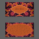 Elegant two sides of brochure Royalty Free Stock Images