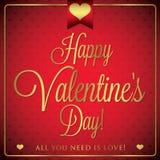 Elegant typographic Valentine's Day card Royalty Free Stock Photos