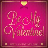 Elegant typographic Valentine's Day card Royalty Free Stock Image