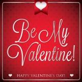Elegant typographic Valentine's Day card Stock Images