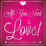 Elegant typographic Valentine's Day card Royalty Free Stock Images
