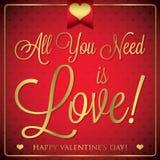 Elegant typographic Valentine's Day card Stock Photo