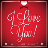 Elegant typographic Valentine's Day card Stock Image