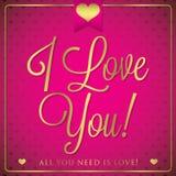 Elegant typographic Valentine's Day card Stock Photos