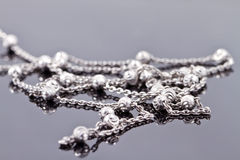 Elegant unusual silver chain Stock Image