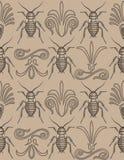 elegant upprepande seamless wallpaper för kackerlacka Arkivfoto