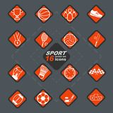 Elegant uppsättning och emblem för symbol för vektorsport 16 vektor illustrationer