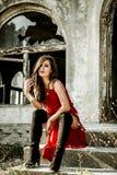 Elegant urban girl portrait Royalty Free Stock Photo