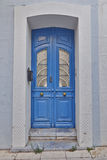 Elegant urban house entrance, Greece Royalty Free Stock Photos