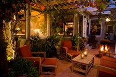 elegant uteplats för trädgård Arkivbild