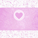 Elegant valentine card with heart. EPS 8 Stock Image