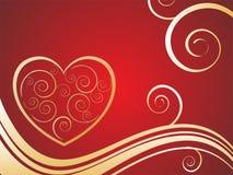 Elegant valentine`s card Royalty Free Stock Photo