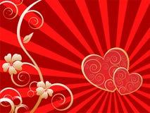 Elegant valentine`s card Stock Images