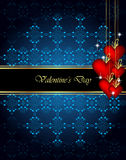 Elegant  valentine`s day background. Stock Image