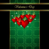 Elegant  valentine`s day background. Stock Images