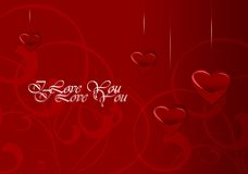 Elegant Valentine's Day Card Royalty Free Stock Photography