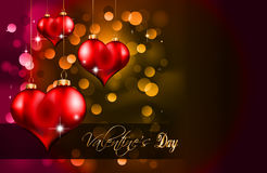 Elegant  Valentine's Day Flayer. For important invitation Royalty Free Stock Photography