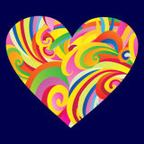 Elegant Valentine`s day heart. Colored heart Stock Photo