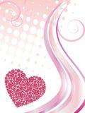 Elegant valentine`s design Stock Images