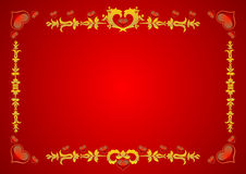 Elegant Valentine's Invite Royalty Free Stock Images