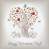 Elegant valentine's tree Royalty Free Stock Photos