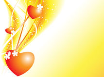 Elegant Valentine vector Stock Images