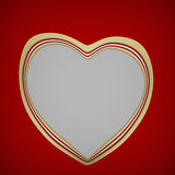 Elegant Valentines day blank card design. Heart shape paper greeting card concept royalty free illustration