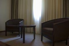 Elegant vardagsrum Arkivfoton