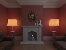 Elegant vardagsrumlokal royaltyfri fotografi