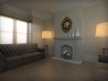 Elegant vardagsrumlokal royaltyfria foton